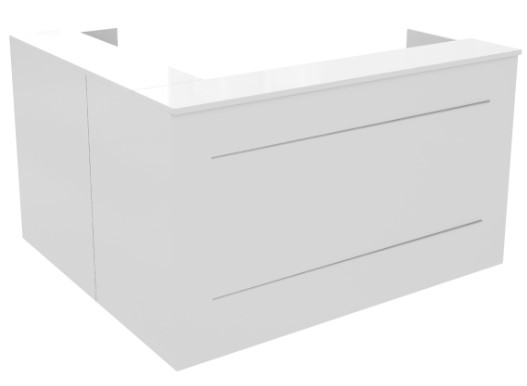 reception desk straight corner white sydney