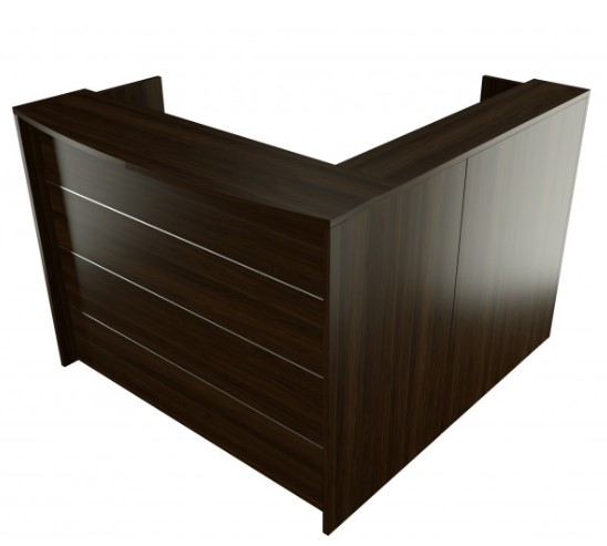 Wooden Corner reception Desk