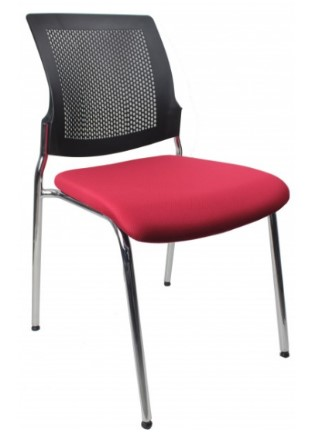 Colourful green red waiting room boardroom office chairs stackable cantileversydney chrome black mesh