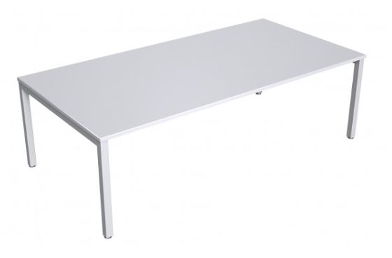 white boardroom table metal legs sydney meeting room table conference
