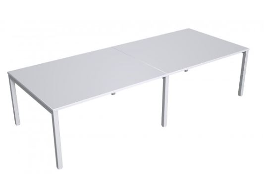 large white boardroom table meeting room conference sydney metal  steel legs