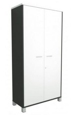 modern office storage white cupboard metal feet sydney