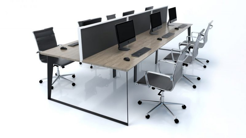 Black Frame Modern Office Workstation