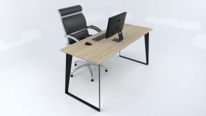Modern steel black desk
