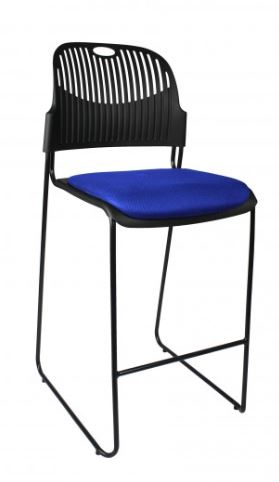tall bench seat chair black white red green orange blue office sydney