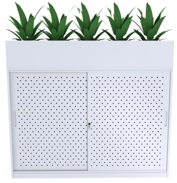 office planter cabinet
