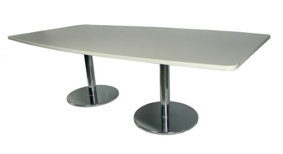 modern office boardroom table meeting conference silver legs Sydney